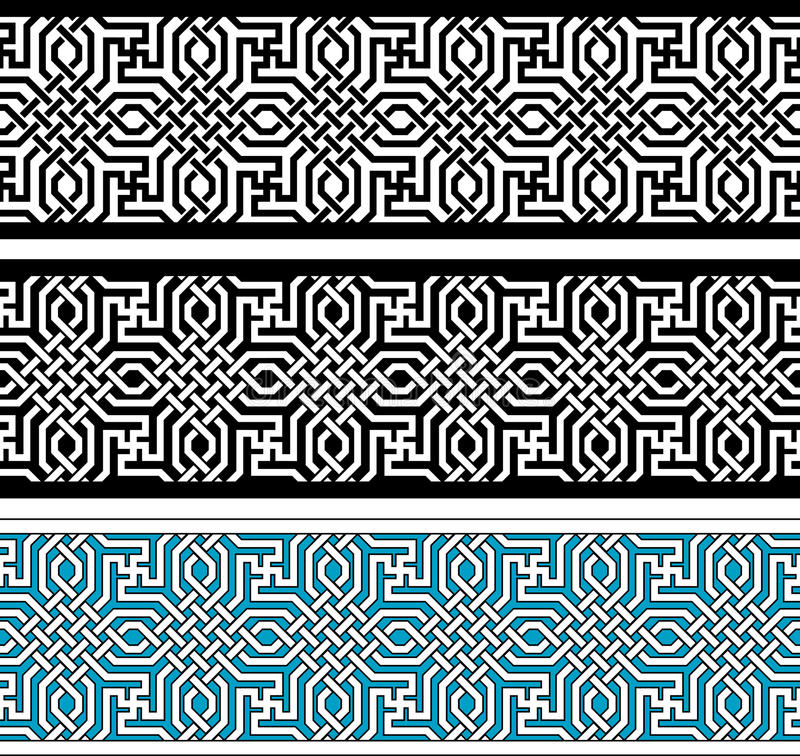 Confine geometrico illustrazione di stock