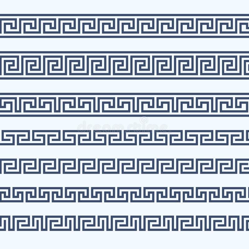 Confine greco del modello - ornamento grecian illustrazione vettoriale