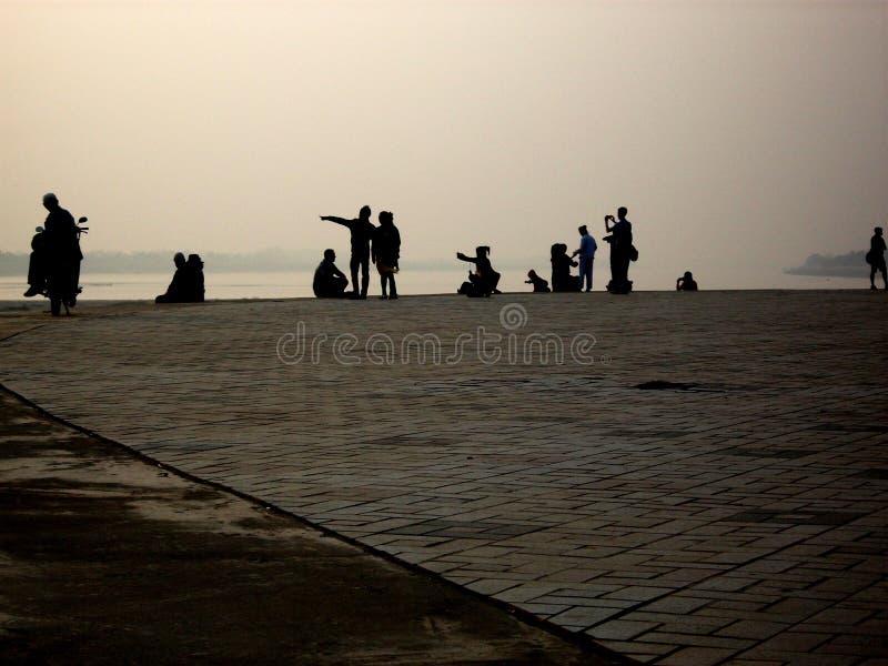 Confine Laotiano-tailandese, Vientiane fotografie stock libere da diritti
