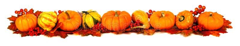 Confine lungo di autunno fotografia stock