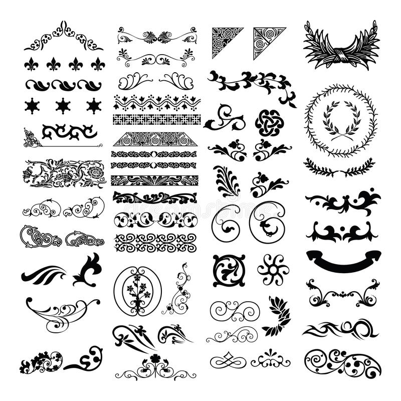 Confine malese islamico di progettazione floreale royalty illustrazione gratis