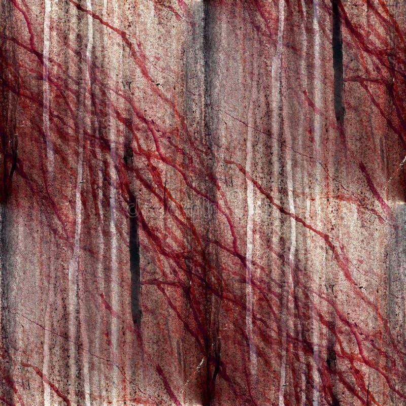 Confine nocivo invecchiato fondo marrone astratto illustrazione vettoriale
