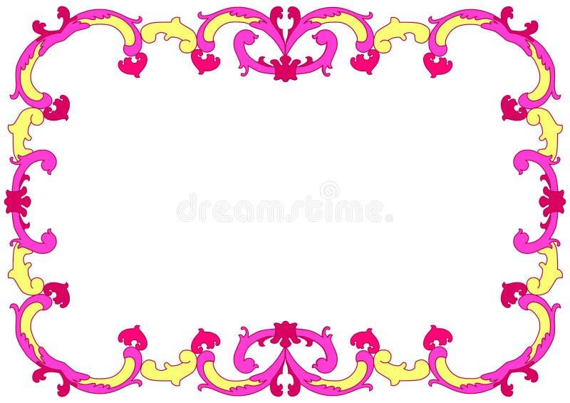 Confine portoghese romantico della struttura delle mattonelle royalty illustrazione gratis