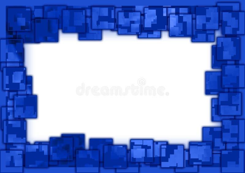 Confine quadrato blu illustrazione vettoriale