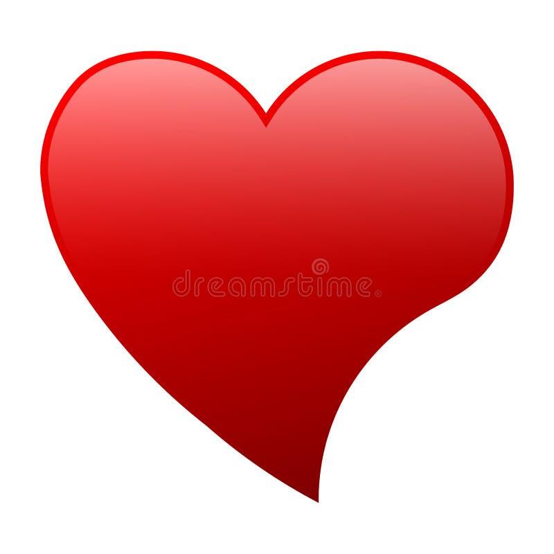 Confine rosso del cuore isolato su fondo bianco Concetto di passione & di amore Illustrazione EPS10_08 di vettore royalty illustrazione gratis