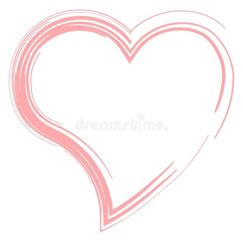 Confine rosso del cuore isolato su fondo bianco Concetto di passione & di amore Illustrazione EPS10_03 di vettore illustrazione di stock