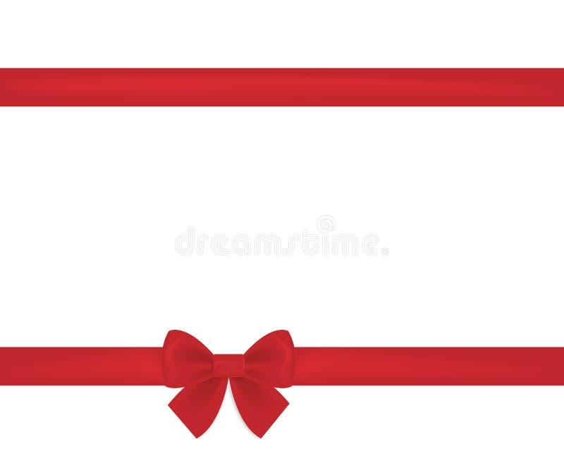 Confine rosso di orizzontale dell'arco del nastro illustrazione di stock