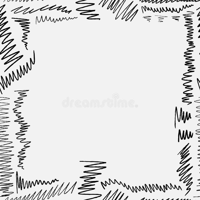 Confine scribacchiato illustrazione vettoriale
