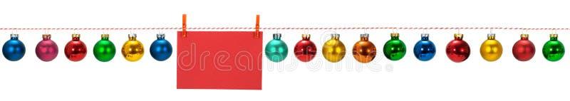 Confine senza cuciture orizzontale di Natale immagine stock