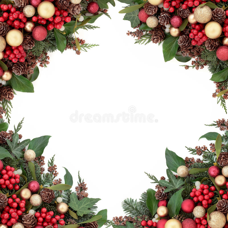 Confine tradizionale di Natale immagini stock