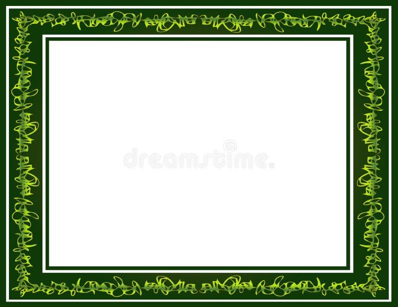 Confine verde dello scarabocchio dei graffiti immagine stock