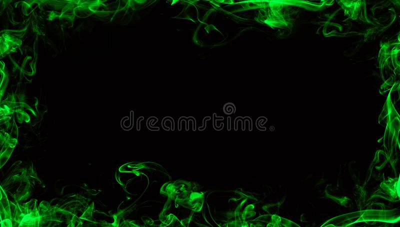 Confine verde da fumo Effetto nebbioso per il film, insegna, aletta di filatoio illustrazione vettoriale