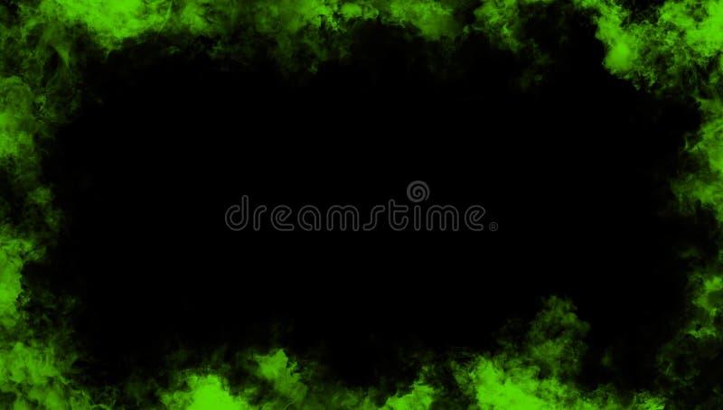 Confine verde da fumo Effetto nebbioso per il film, insegna, aletta di filatoio royalty illustrazione gratis