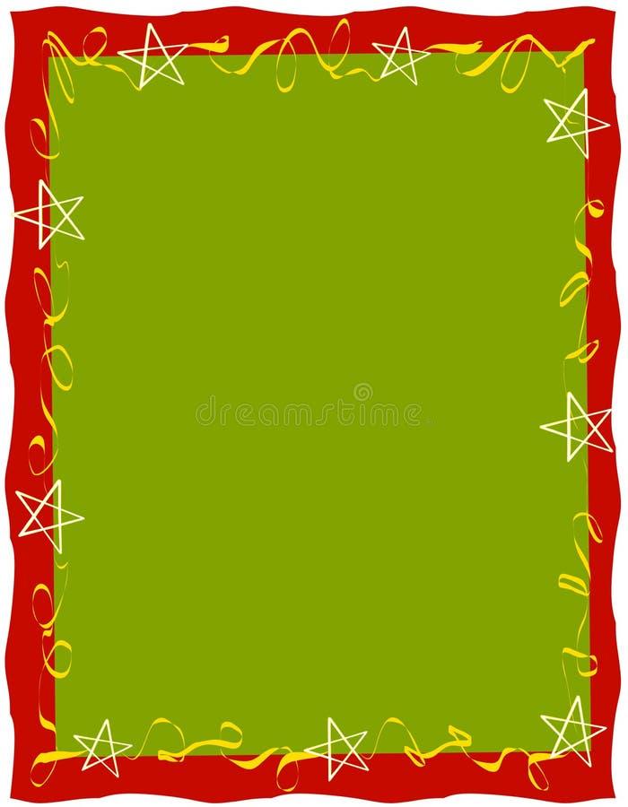 Confine delle stelle dei nastri di Red Green fotografie stock