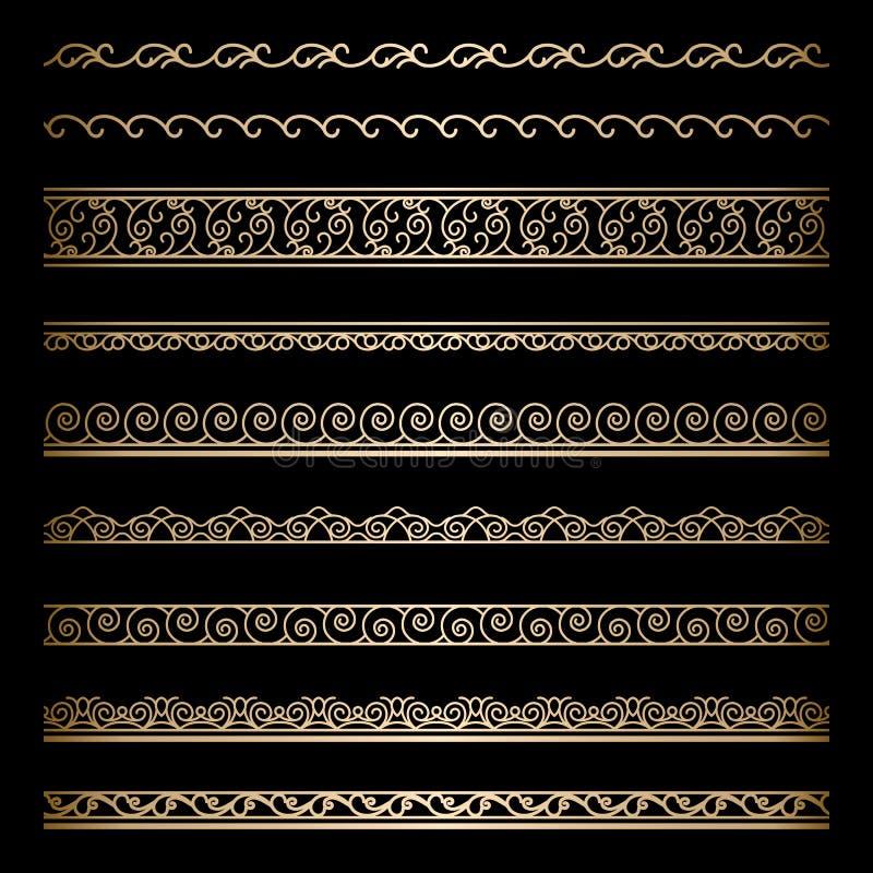 Confini dell'oro illustrazione vettoriale