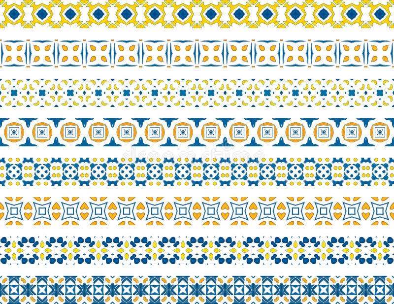 Confini portoghesi illustrazione vettoriale