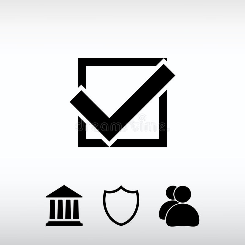 Confirm icons; vector illustration. Flat design style royalty free stock images