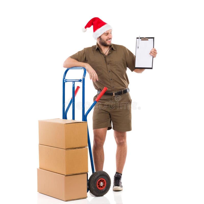 Confirmation de la livraison pour Noël images libres de droits