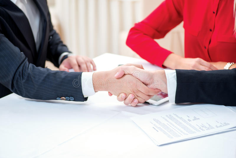 Download Confirmation Of Sponsorship. Three Successful And Confident Busi Stock Image - Image of confident, hands: 44314175
