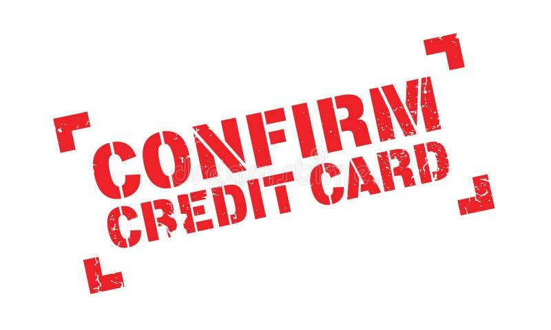 Confirmez le tampon en caoutchouc de carte de crédit illustration libre de droits