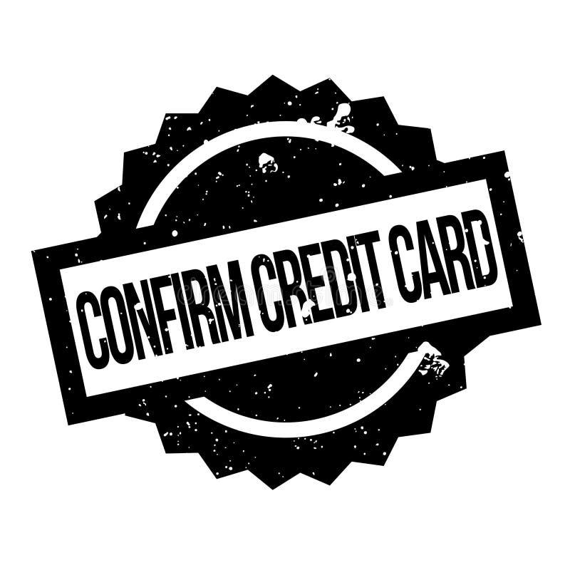 Confirmez le tampon en caoutchouc de carte de crédit illustration de vecteur