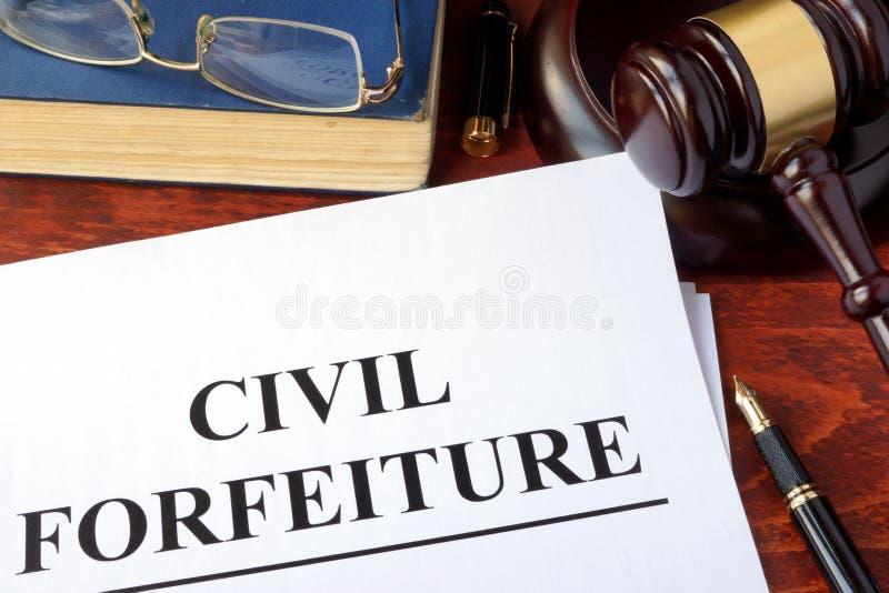 Confisco civil foto de stock