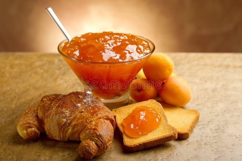 Confiture d'abricot photos stock