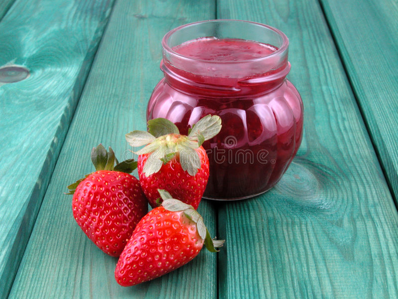 Confiture de fraise photo libre de droits