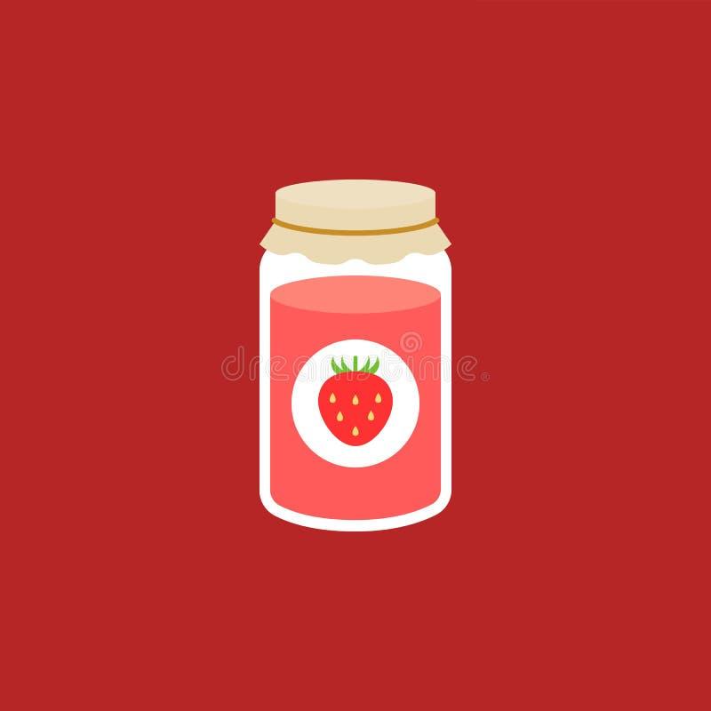 Confiture de fraise illustration stock