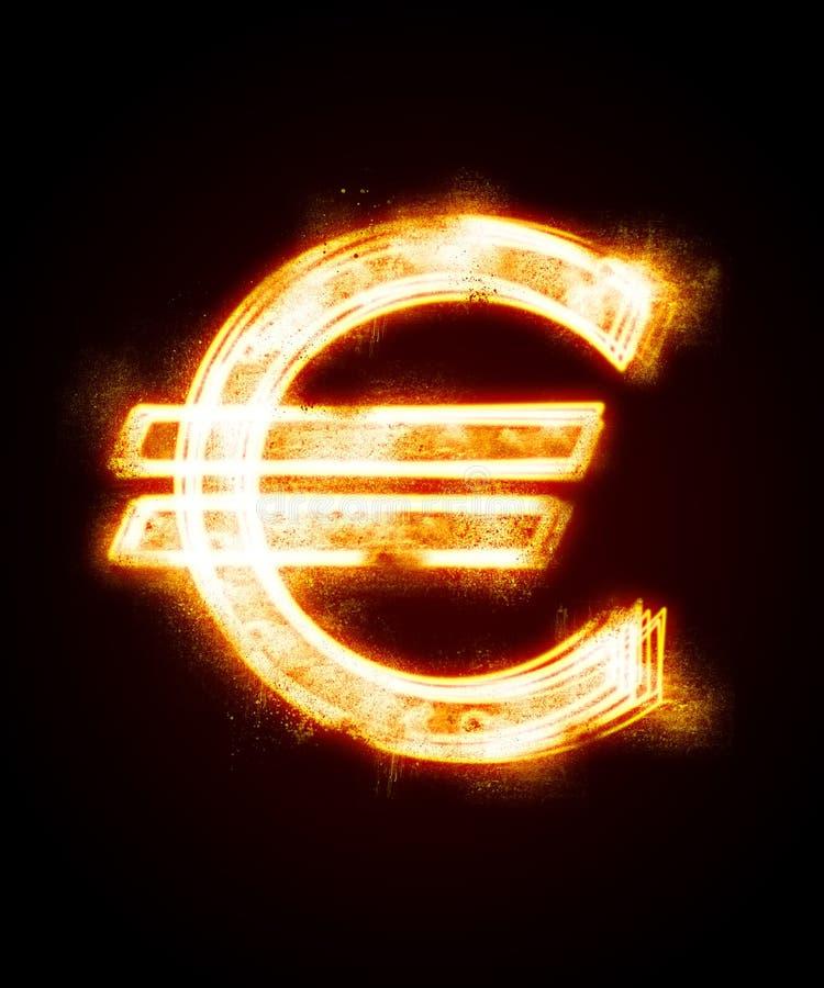 Download Conflagrant Luminous Sign Of Euro Stock Illustration - Illustration of euro, equipment: 8231766