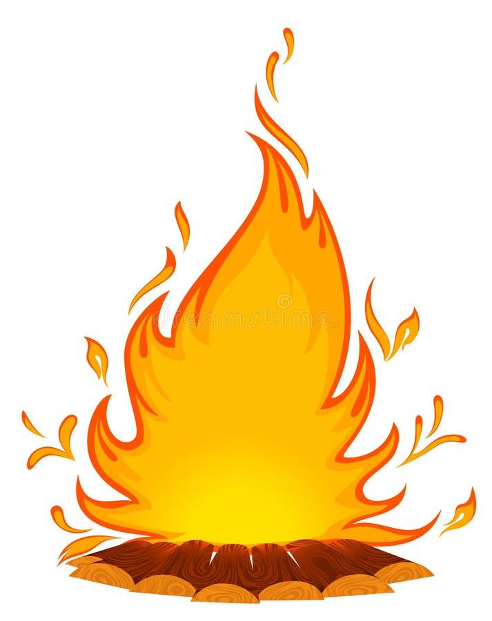 conflagrant ogień royalty ilustracja