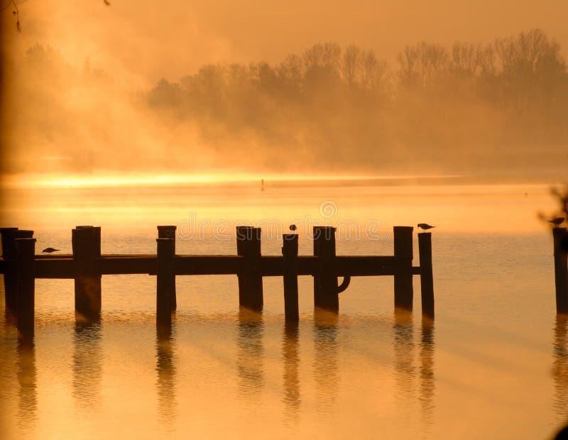 Conflagration de lac photographie stock