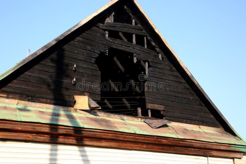 conflagration Elementos da casa queimada fotos de stock