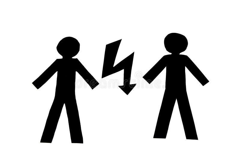 Conflict vector illustratie