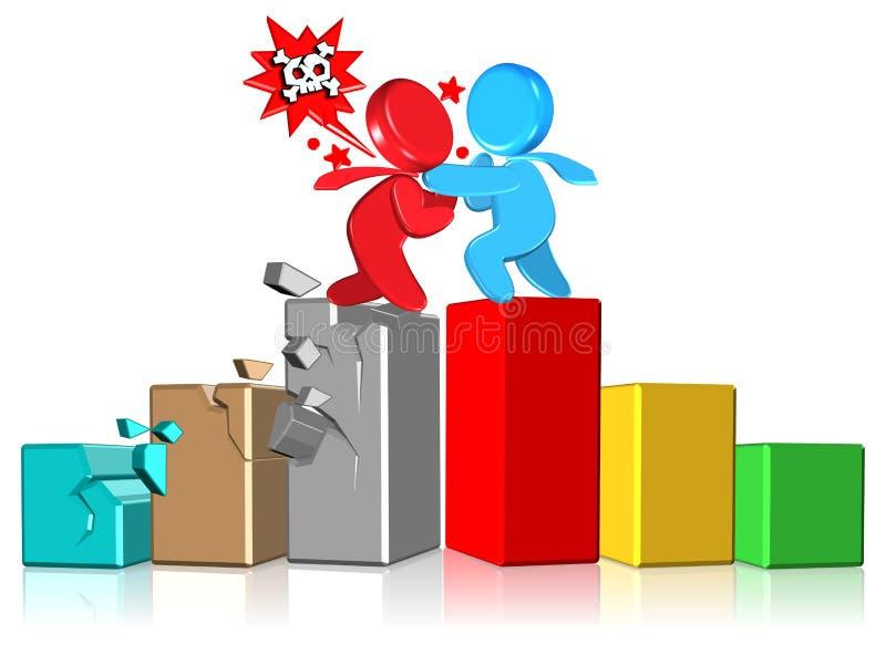 conflict för affärsdiagram stock illustrationer