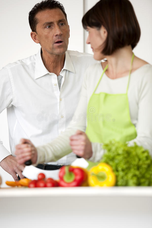 Conflict In The Kitchen royalty free stock photography