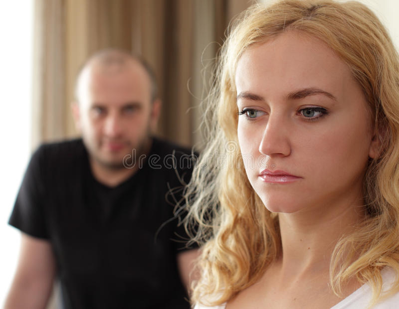 Conflict Between Man And Woman Royalty Free Stock Images