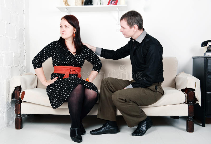 Conflict Between Man And Woman: Offense Stock Image