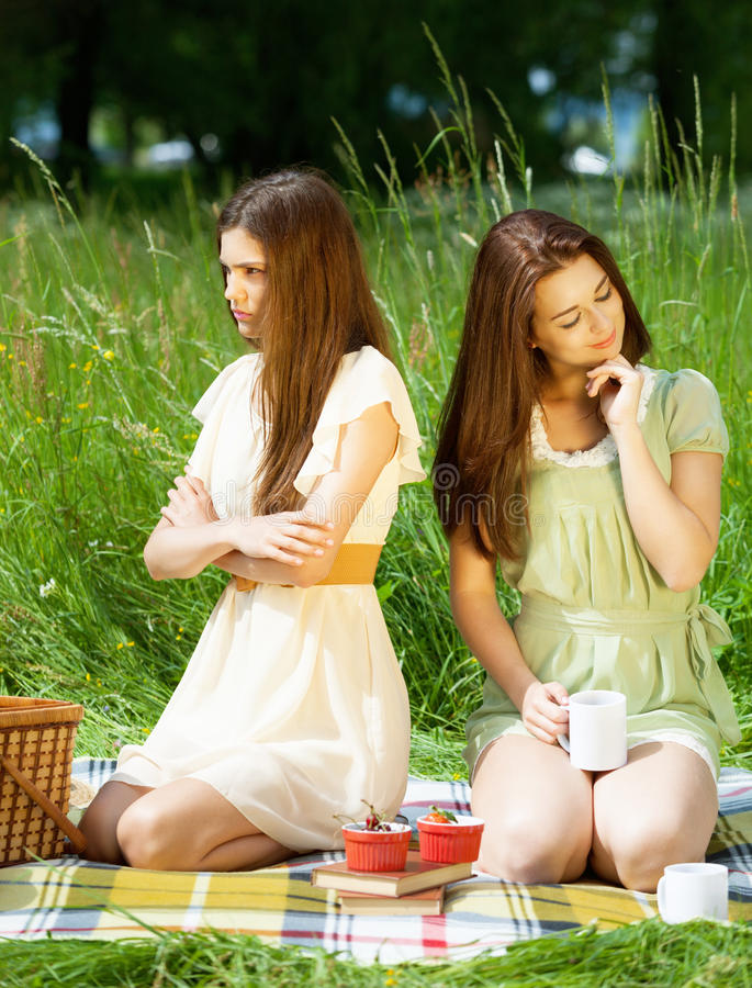 Download Conflict on picnic stock photo. Image of girl, emotional - 32274144