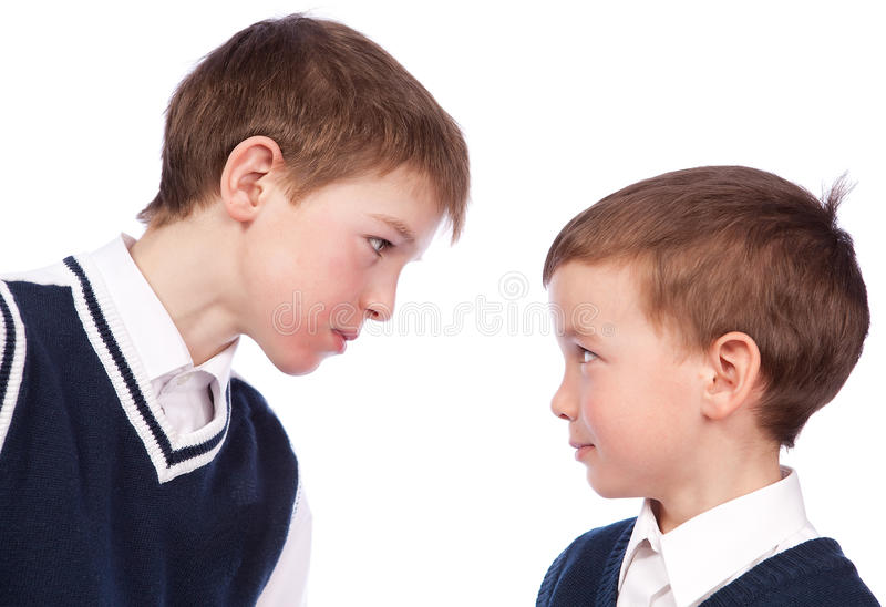 Conflict Between Two Pupils Royalty Free Stock Photos