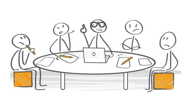 Conflict van advies vector illustratie