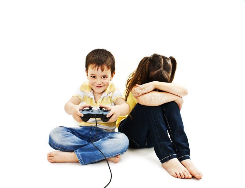 Conflict voor spelen royalty-vrije stock foto