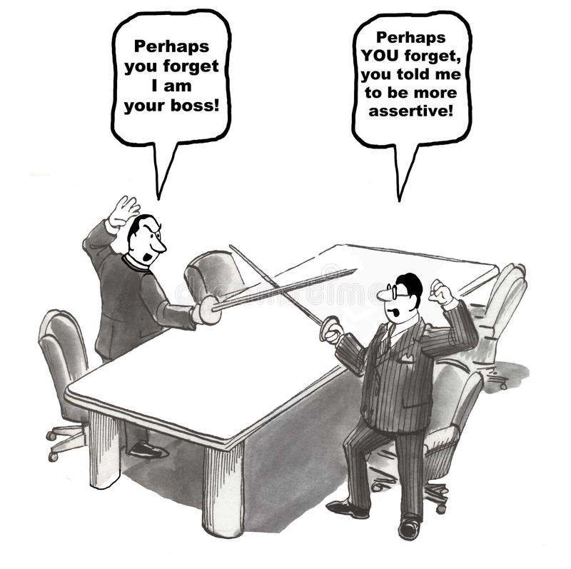 Conflictbeheer stock illustratie