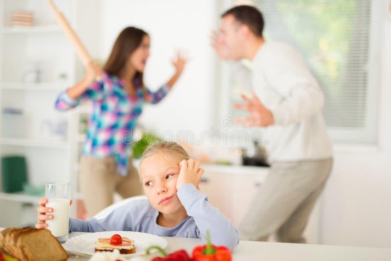 Conflicto de la familia foto de archivo