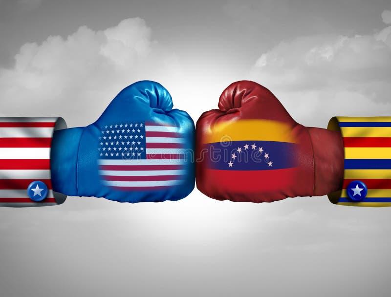Conflicto de los E.E.U.U. Venezuela stock de ilustración