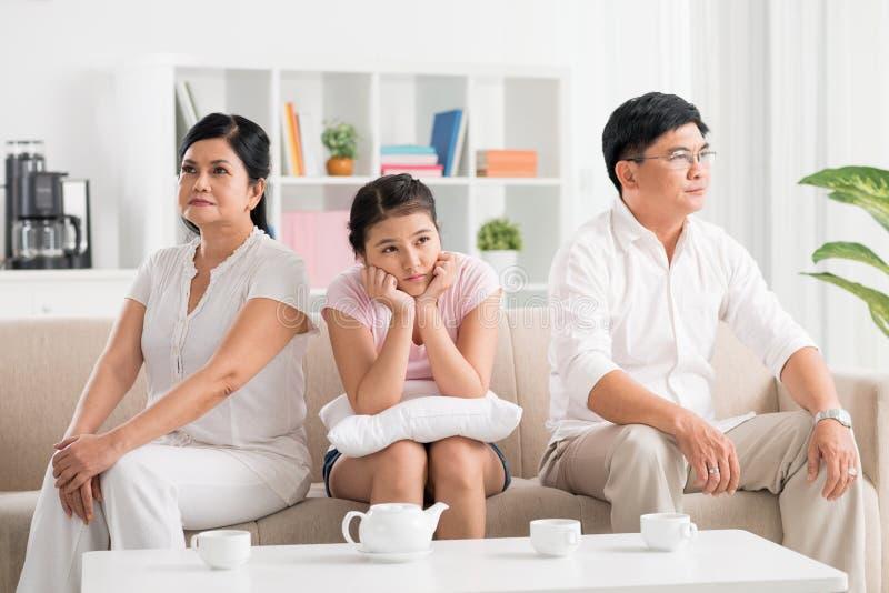 Conflicto de los padres fotografía de archivo