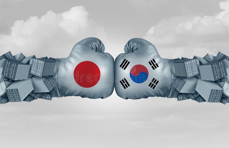 Conflicto económico de Japón de la Corea del Sur libre illustration