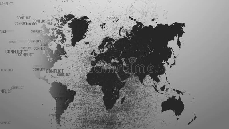 Conflictos de la guerra del planeta Conflictos por todo el planeta libre illustration