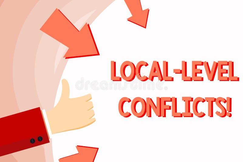 Conflictos del nivel local del texto de la escritura Significado del concepto que crea incentivos locales para estropear gesticul libre illustration