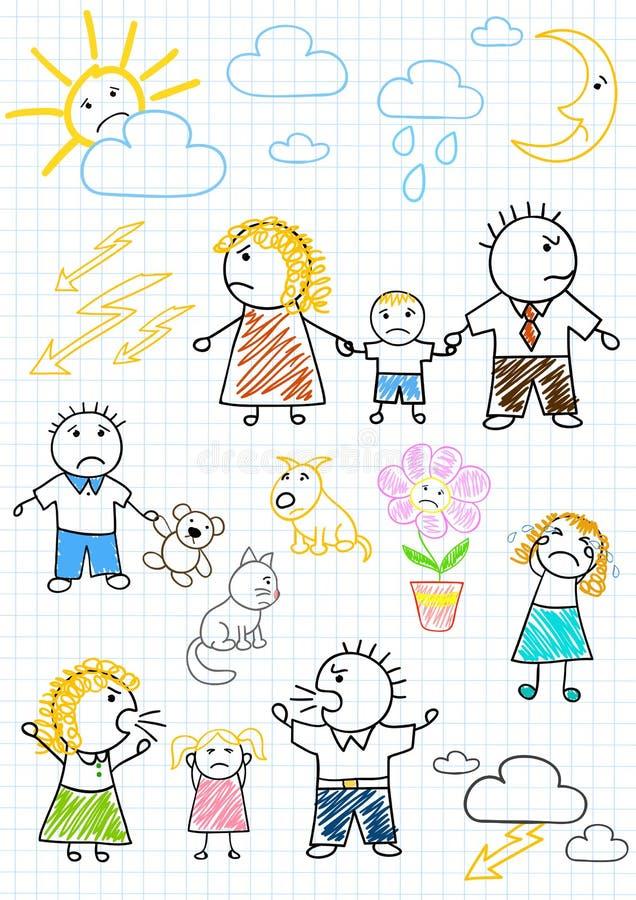 Conflictos dentro de la familia libre illustration